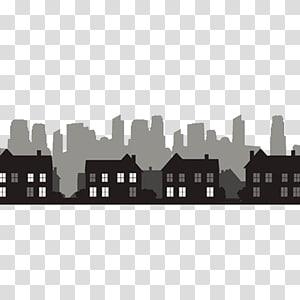 empat macam rumah seni, Silhouette Building City Skyline, city PNG clipart