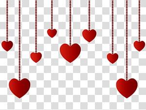 Museum Crystal Art American Bridges Heart, Hanging Hearts Decoration, ilustrasi merah hati png