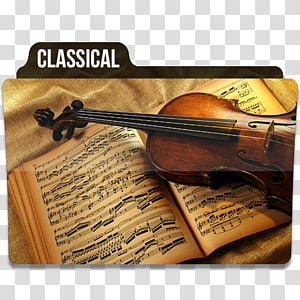 biola kayu coklat pada buku, biola alat musik viola, Klasik 1 png