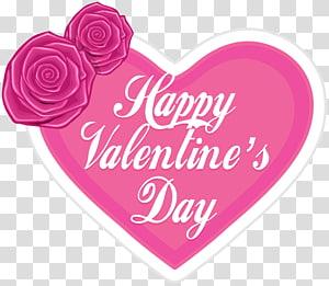 pink dan putih Happy Velentine's Day, Valentine's Day Heart, Happy Valentine's Day Pink Heart png