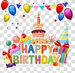 Kue Ulang Tahun Cupcake Kartun, Selamat Ulang Tahun, Selamat Ulang Tahun Bertema png