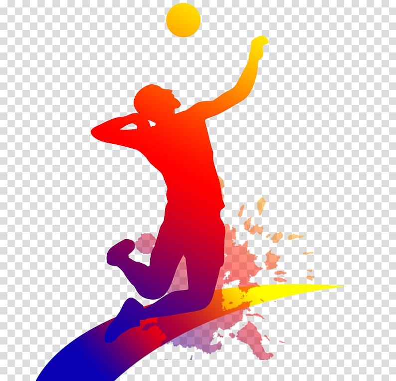 logo merah, coklat, dan ungu, Bola Voli, Orang-orang bermain bola voli png