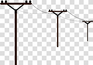 Saluran listrik overhead Daya listrik Listrik, tiang png