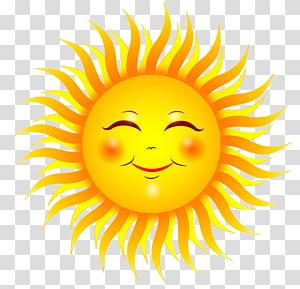 Senyum Sinar matahari, matahari, ilustrasi matahari PNG clipart