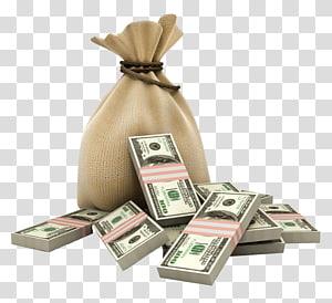 100 bundel uang kertas dolar AS, Pinjaman Angsuran kantong uang Dolar Amerika Serikat, uang png