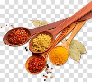 empat sendok kayu cokelat dengan berbagai macam rempah, Ras el hanout masakan India, masakan vegetarian, bubuk Spice Chili, rempah-rempah png