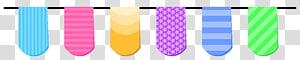 enam ilustrasi tekstil berbagai macam warna, streamer Pesta Serpentine, Streamer untuk Pesta png