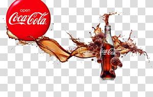 Ilustrasi botol kaca Coca-Cola, Minuman Ringan Coca-Cola Diet Pepsi, Coca-Cola Iklan Kreatif PNG clipart