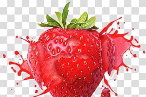 close-up buah stroberi, Jus Milkshake Strawberry Frutti di bosco Flavour, Strawberry HD PNG clipart