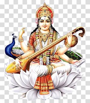 Ilustrasi Dewa Hindu, Shiva Saraswati Vandana Mantra Basant Panchami Hindu, puja png