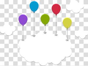 Cahaya Awan Langit Bulan, bingkai judul awan Balon, ilustrasi balon dan awan png