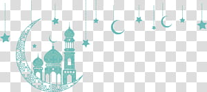 Islam Idul Fitri Ramadhan Quran, ornamen gereja Bulan Hijau, ilustrasi bulan sabit PNG clipart