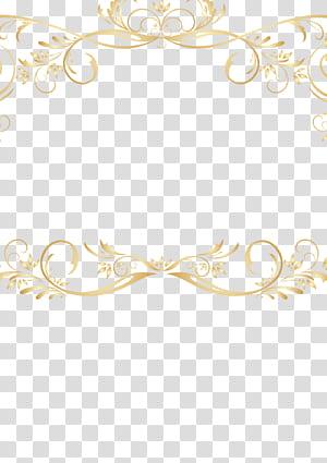 File komputer, perbatasan renda emas antik, perbatasan gulir emas png