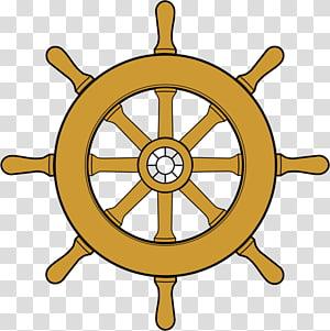 ilustrasi roda kapal coklat, Roda Kemudi kapal, File Roda Dharma png