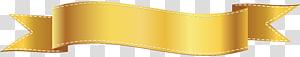 bingkai desain digital pita kuning, Dylan's Café Facebook, Golden Banner PNG clipart