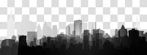 ilustrasi bulding hitam dan putih, Templat Poster Hitam dan Putih Shadow, building PNG clipart