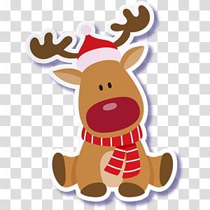 Rudolph Reindeer Santa Claus Christmas, Anjing Natal yang Lucu png