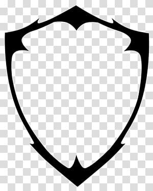ilustrasi gambar bentuk perisai hitam, Pelindung, Logo Perisai Kosong png