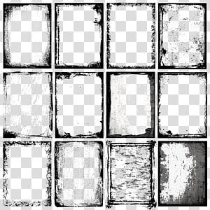 Ilustrasi bingkai, Elemen batas tinta, dua belas kolase bingkai yang berbeda-beda png