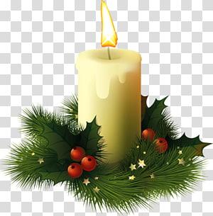 The Christmas Candle David Richmond Film, Lilin Natal, lilin pilar kuning png