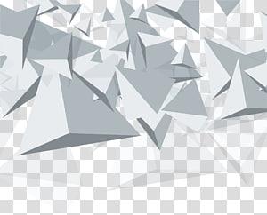 Triangle Euclidean Geometry Cone, bahan latar belakang abstrak geometris kerucut putih, segitiga abu-abu png