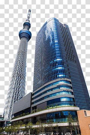 ilustrasi bangunan dinding tirai biru dan abu-abu, Tokyo Skytree Sky Tower, tulis Tokyo Sky Tate png
