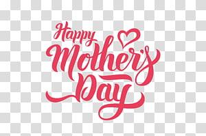 teks merah pada latar belakang biru, Hari Ibu, HAPPY MOTHERS HARI png