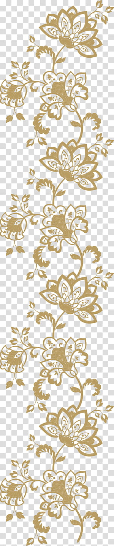 Pola Euclidean, Pola Champagne Gold, bunga biru dan kuning png