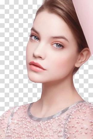 wanita mengenakan manik-manik ilusi atas leher, Barbara Palvin Chanel Kosmetik Eye shadow Hairstyle, model Makeup lucu PNG clipart