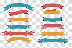 Web banner Ikon Ribbon Euclidean, bahan desain tag pita, banyak ilustrasi banner png