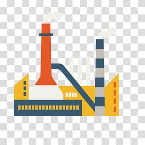 pembangkit listrik kuning dan abu-abu, Bisnis Industri Batubara, Petrokimia Pembangkit Listrik Batubara Kartun png