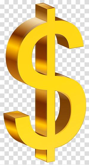 Tanda Dolar Amerika Serikat, Dolar Emas, ilustrasi tanda dolar png