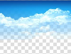 Awan, Langit biru, elemen awan putih, bahan Taobao, langit berawan pada siang hari PNG clipart