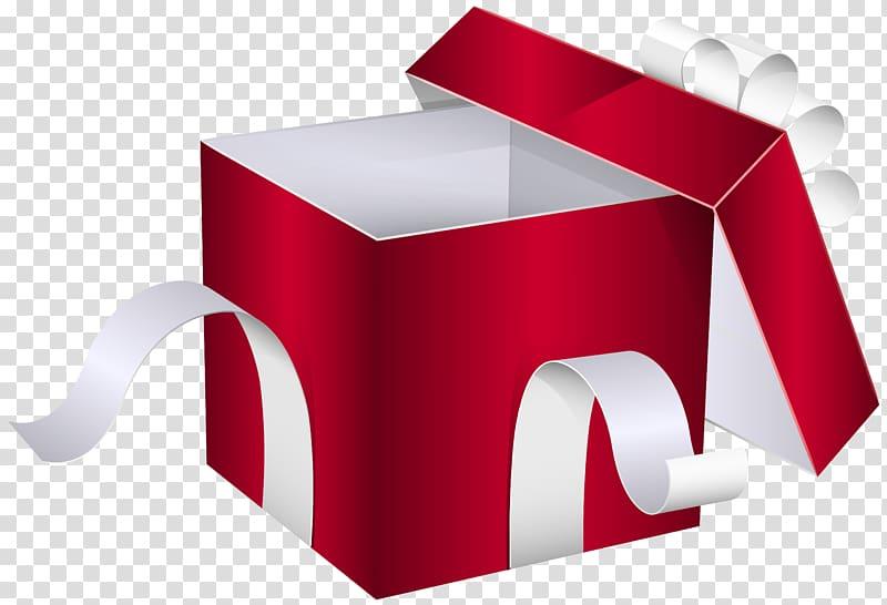 ilustrasi kotak hadiah merah dan putih, Kotak Hadiah, Kotak Hadiah Merah Terbuka png
