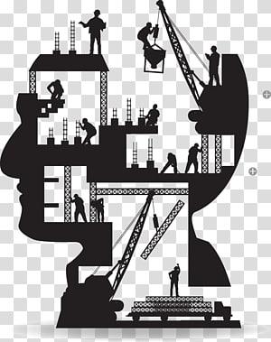 ilustrasi situs konstruksi, Teknik arsitektur Bangunan pekerja Konstruksi Siluet, Gambar karya kreatif otak manusia PNG clipart