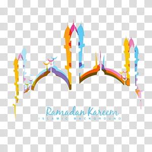 Idul Fitri Idul Fitri Mubarak Idul Fitri Masjid Ramadhan, bayangan warna masjid Islam, ilustrasi Ramadhan Kareem PNG clipart