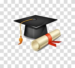 ilustrasi papan mortar hitam, Topi akademik Wisuda topi persegi, Sarjana cap dan diploma png