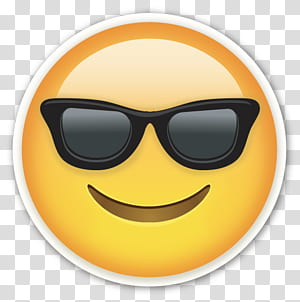 Emoji Emoticon Sticker Smiley, Wajah Tersenyum Dengan Kacamata Hitam Emoji Keren, ilustrasi emoji Smiley PNG clipart