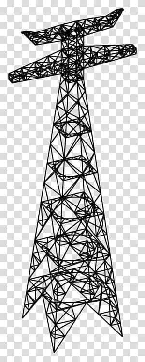 Menara transmisi Listrik Transmisi tenaga listrik, tegangan tinggi png