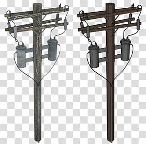Tiang utilitas Listrik Overhead power line Listrik, tiang png