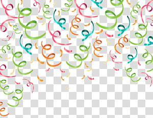 confetti hijau, pink, dan biru, Pita Pesta Confetti, bahan pita warna latar belakang Partai png