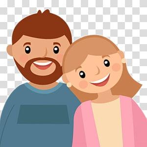 ilustrasi pria dan wanita, Kartun Keluarga, Orangtua png