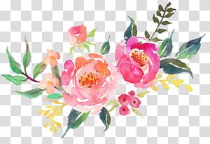Layanan Desain Interior Etsy Decal, Bunga segar, cat air, ilustrasi bunga merah muda, hijau, dan merah png