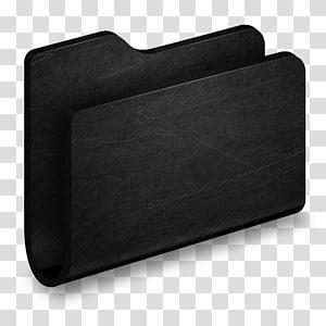 persegi panjang hitam, Folder Black Metal Folder, case black metal png