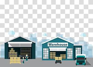 ilustrasi gudang, Distribusi Logistik Bangunan Gudang, gudang bahan Kartun png