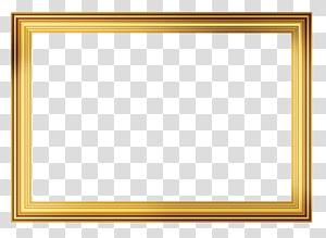 bingkai, Bingkai, bingkai berwarna emas PNG clipart