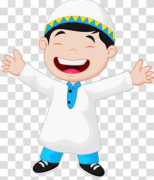 ilustrasi animasi anak laki-laki berpakaian kurta, Muslim Islam Child, eid mubarak png