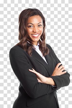 wanita tersenyum mengenakan jaket selendang hitam, Pengusaha Wanita, wanita kulit hitam png
