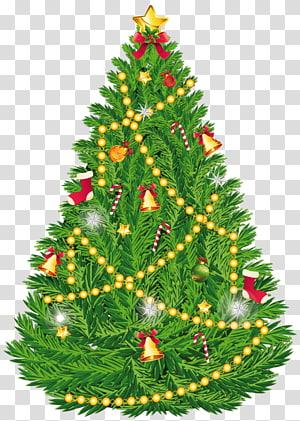 Ilustrasi pohon Natal, pohon Natal Hari Natal ornamen Natal, Pohon Natal PNG clipart