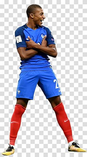 Kylian Mbappé Tim sepak bola nasional Prancis Pemain sepak bola, mbappe, jersey bola Nike biru pria png